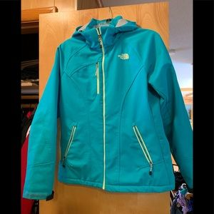 North Face Teal Winter Jacket